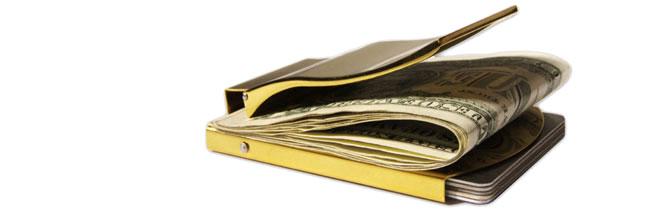 Geldklammer Gold